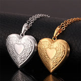 Valentine's Gift 18K Gold/Platinum Plated Heart Locket Necklace