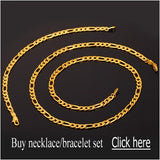 18K Gold Plated / Stainless Steel Figaro Chain Necklace
