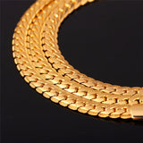 Wide Chain & Link 18K Gold/Platinum Plated Bracelet