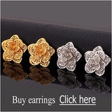 Exquisite Big Flower Platinum/18K Gold Plated Jewelry Set