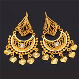 Indian Jewelry Dangle 18K Real Gold/Platinum Plated Rhinestone Classic Drop Earrings