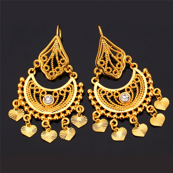 Indian Jewelry Dangle 18k Real Gold Platinum Plated