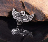 Winged Skull 316L Stainless Steel Pendant Necklace
