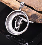 Vintage Sheepshead 316L Stainless Steel Pendant Necklace