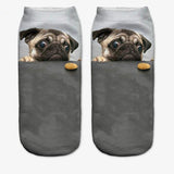 FREE Cute Pug Low Cut Ankle Socks