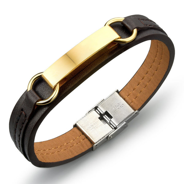 PU Leather Bracelet with Cross