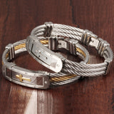 Stainless Steel Rope & Cross Bracelet