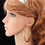 Large Hoop Platinum/18K Gold Plated Earrings
