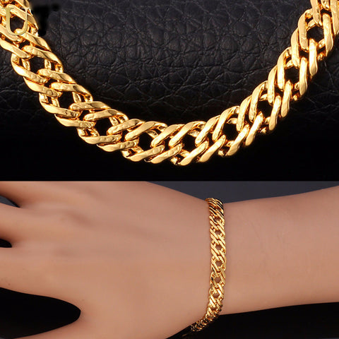 Elegant 18K Gold /Platinum/Rose Gold Plated Bracelet