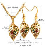 Colorful Crystals & Platinum or 18K Gold Plated Necklace Earrings Jewelry Sets