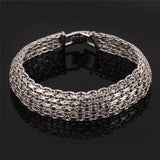 Unique Wide 18K Gold/Platinum Plated Link Chain Bracelet