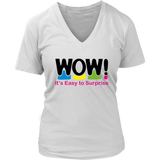 WOW! It's Easy to Surprise Womens V-Neck