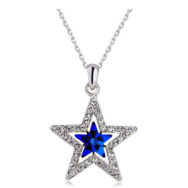 Austrian Crystal DC Star Necklace