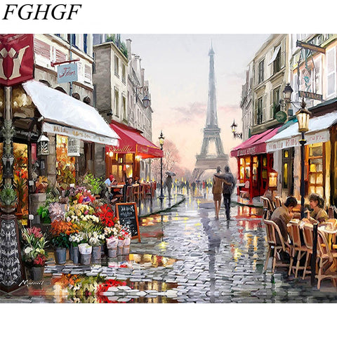 Paris - Paint by Numbers DIY Oil Painting Kit