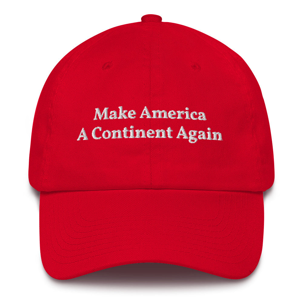 """Make America A Continent Again"" Cotton Cap"