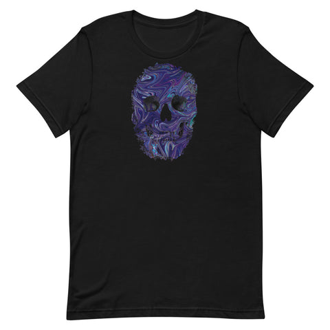 Skull T-Shirt Blue Marble Short-Sleeve Unisex