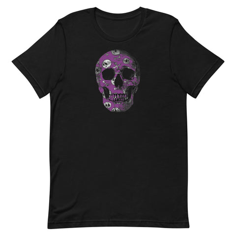 Purple Skull T-Shirt with Skulls Short-Sleeve Unisex