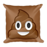 Poop Emoji Pillow Square