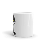 cat coffee mug middle finger cat 5 oz side