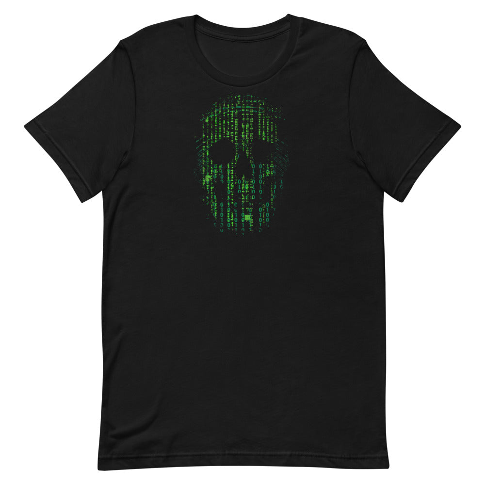 Skull T-Shirt Binary Matrix Short-Sleeve Unisex