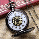Pocket Watch Roman Vintage Style with Chain