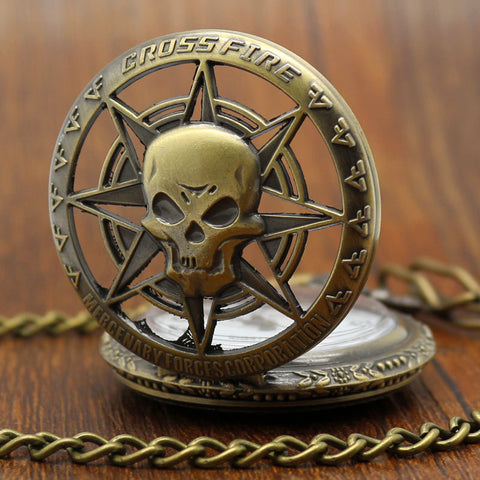 Pocket Watch Steampunk Skull