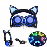 Cat Headphones with Light Up Ears