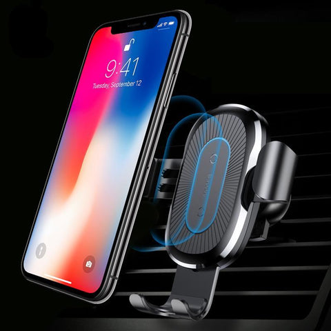 Wireless Charging Car Mount QI Fast For iPhone X, 8 PLUS And SAMSUNG S9 S8