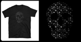Skull T-Shirt with Mini Skulls Short Sleeve