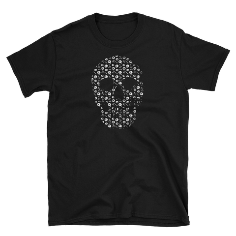 Skull T-Shirt with Mini Skulls Short Sleeve and Free Shipping