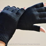 Far Infrared Half-Finger Thermal Gloves For Arthritis and Carpal Tunnel Syndrome