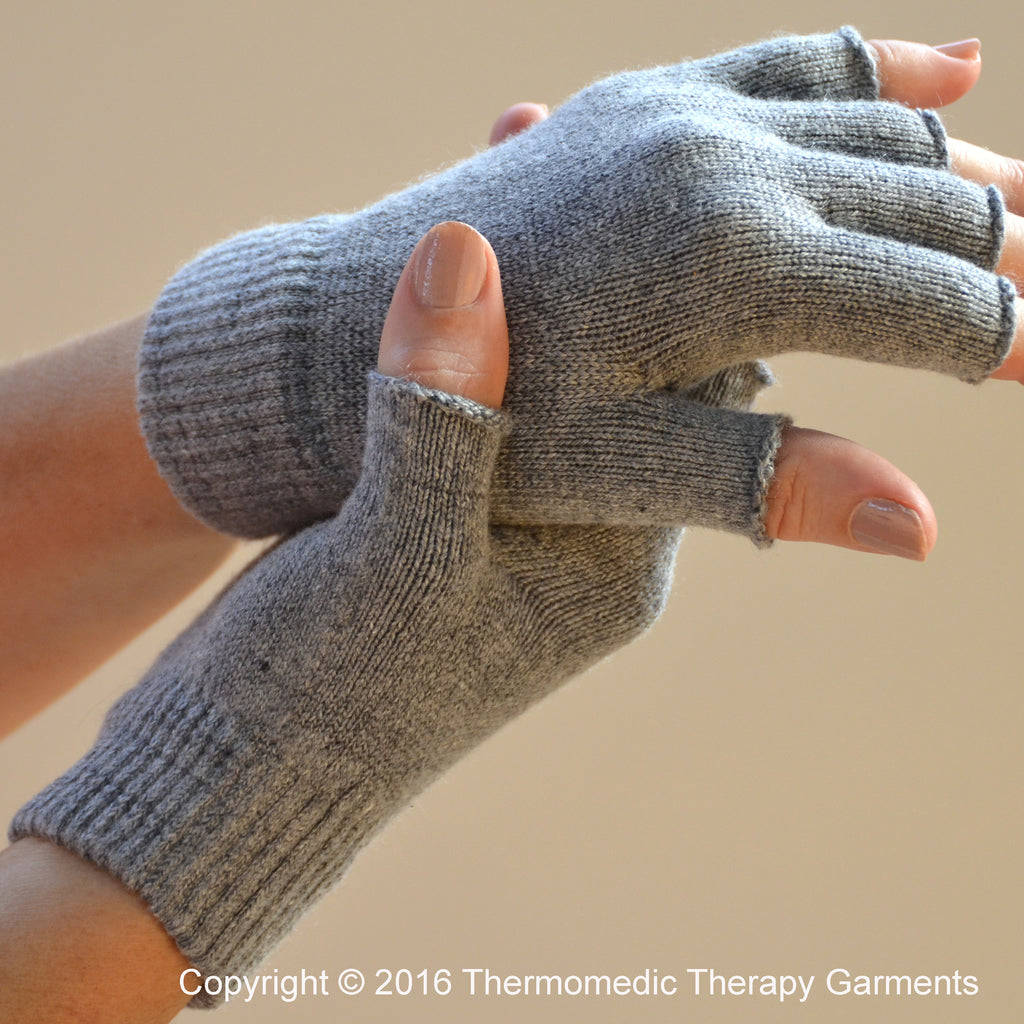 Far Infrared Fingerless Thermal Gloves For Arthritis and Carpal Tunnel Syndrome