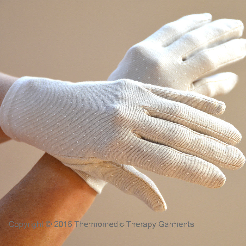 Far Infrared Therapy Gloves For Cold, Sore Hands- Skin Tone- SPECIAL OFFER- FREE Wrist Support!