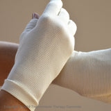 Far Infrared Therapy Gloves- Half-Finger- Skin Tone- SPECIAL OFFER- FREE Wrist Support!