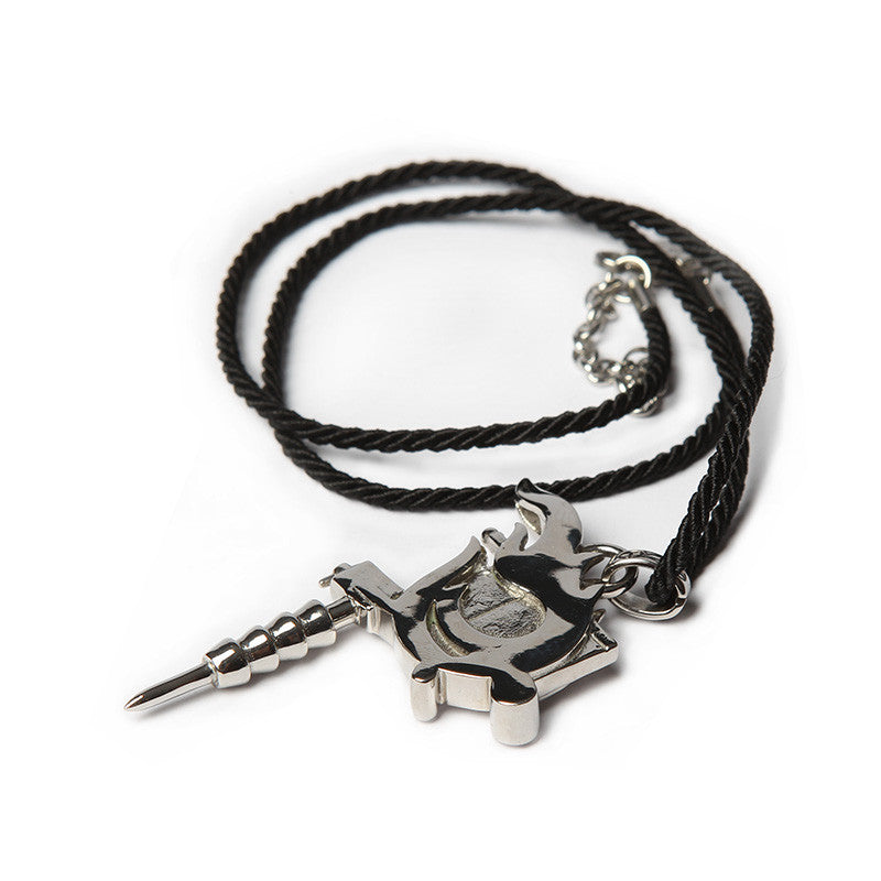 TATTOO MACHINE PENDANT & SILK NECKLACE SET [C]