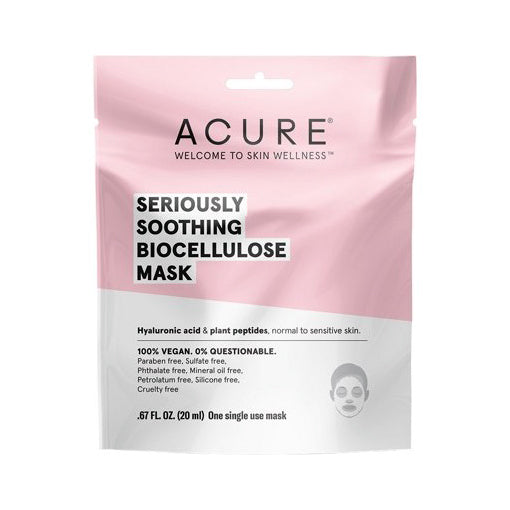 Acure Seriously Soothing Biocellulose Mask 20mL (One Single Use Mask) - The Healthy Household