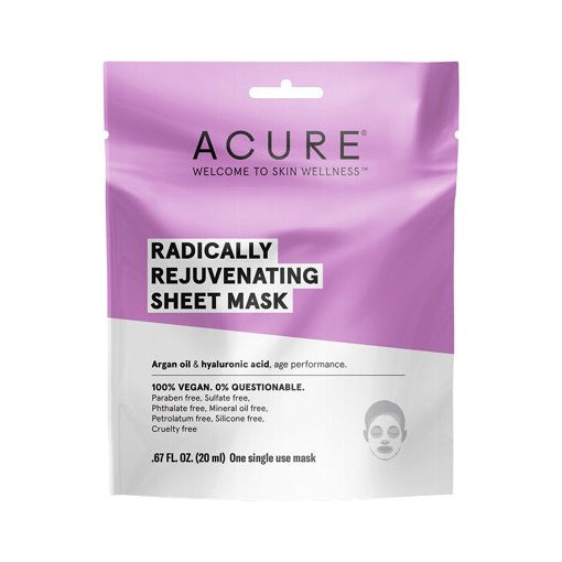Acure Radically Rejuvenating Sheet Mask 20mL (One Single Use Mask) - The Healthy Household
