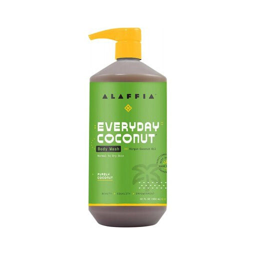 Alaffia Everyday Body Wash Purely Coconut 950mL - ALL-ROUNDER FAMILY BODY & HAIR WASH!