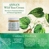 Anna's Wild Yam Cream For Menstrual & Menopausal Symptoms (100g) - The Healthy Household
