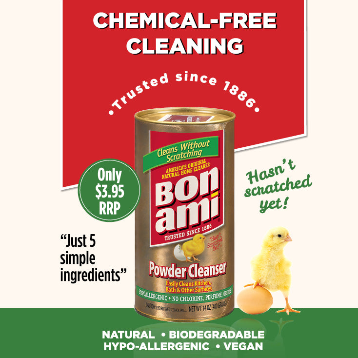 Bon Ami All-Natural Powder Cleanser Home Cleaner 400g Only $3.95! - The Healthy Household