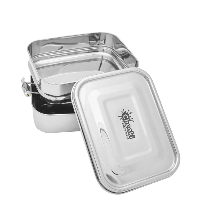 Cheeki Stainless Steel Double Stacker Lunch Box 1L (BPA FREE) - The Healthy Household