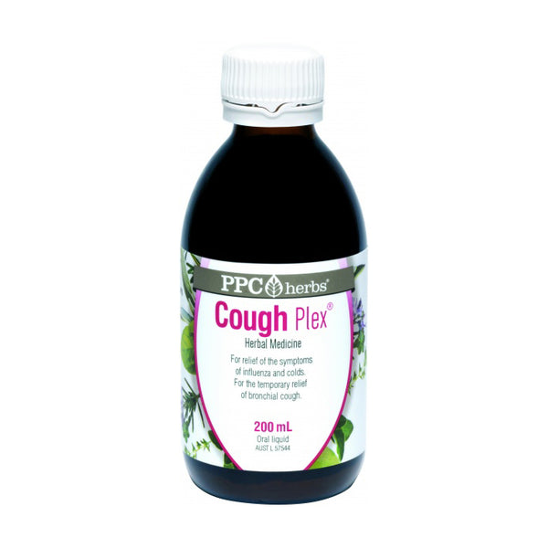 PPC Herbs Cough-Plex 200mL - For Temporary Relief of Bronchial Cough, Cold and Influenza - The Healthy Household