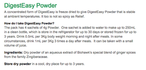 DigestEasy Powder - Natural Digestion Aid (4 preparation sachets) - The Healthy Household