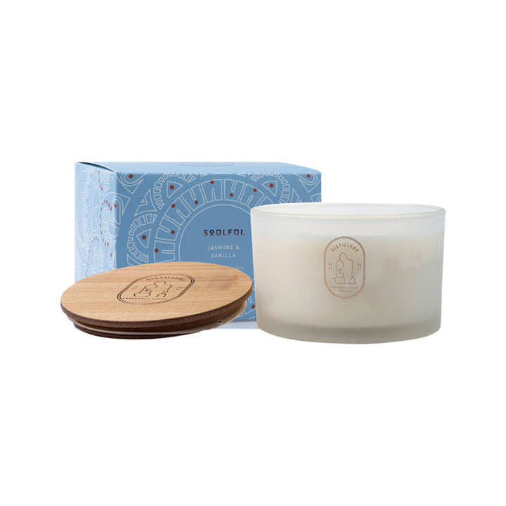Distillery Fragrance House Soy Candle 450g Soulful (Jasmine & Vanilla) 50 Hours Burn Time