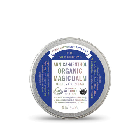 Dr Bronner's Organic Magic Balm Arnica Menthol 57g Moisturising & Soothing ALL NATURAL - The Healthy Household