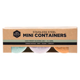 Ever Eco Stainless Steel Mini Containers - Set of 3 x 60mL - The Healthy Household