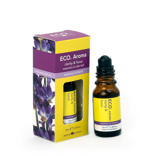 ECO Aroma - Clarity and Focus Rollerball Essential Oil Blend 10mL - The Healthy Household
