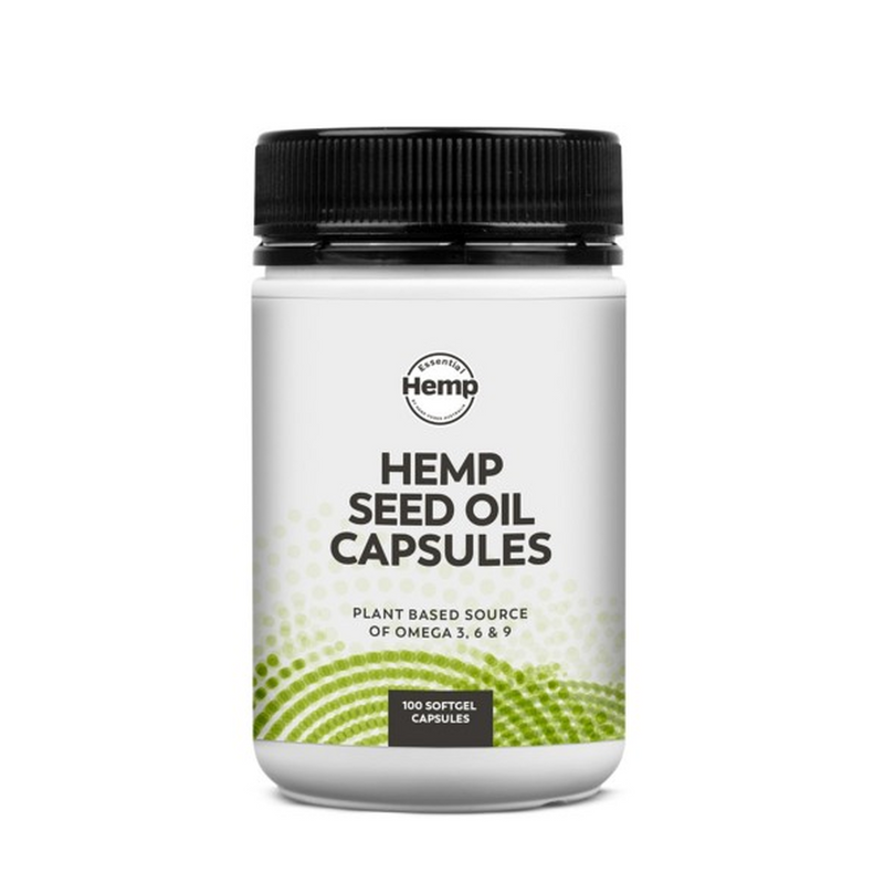 Essential Hemp - Extra Virgin Cold Pressed Hemp Seed Oil x 100 Capsules