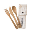 Ever Eco Bamboo Cutlery Set With Organic Cotton Pouch - The Healthy Household