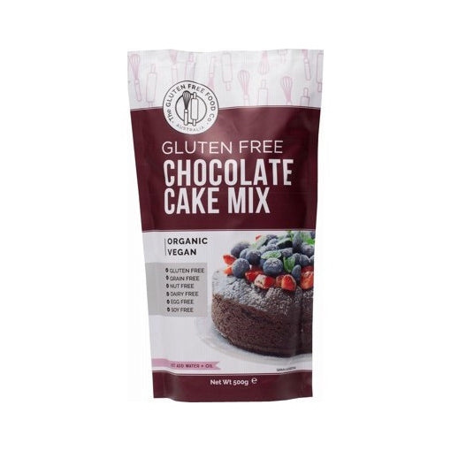 The Gluten Free Food Co - Chocolate Cake Mix 500g (GLUTEN & DAIRY FREE, VEGAN) - The Healthy Household